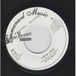 "Dennis Brown - 3 Meal A Day - Emmanuel Music 7"""