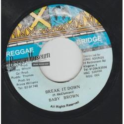 """Baby Brown - Break It Down - Reggae Bridge 7"""""""