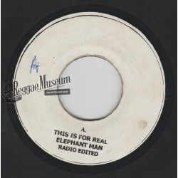 Elephant Man - This Is For Real - blank 7""
