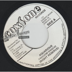 "Freedom Singers - Aquarious - Coxsone 7"""