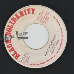 """Triston Palmer - What A Bubbling - Black Solidarity 7"""""""