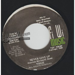 Yogie - Never Give Up - Fi Wi Music 7""