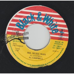 "Al Campbell - Mr Music Man - Black & White 7"""
