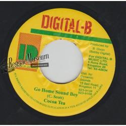 "Cocoa Tea - Go Home Sound Boy - Digital B 7"""