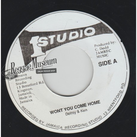 """Delroy Wilson - Wont You Come Home - Studio 1 7"""""""