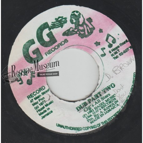 """Dennis Brown - Dont You Cry - GG 7"""""""