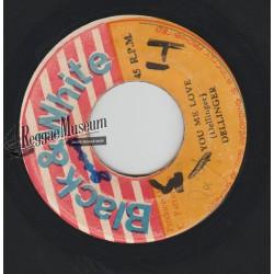 "Dillinger - Ah You Me Love - Black & White 7"""