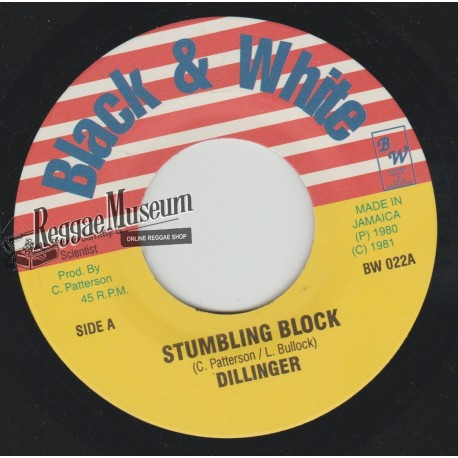 Dillinger - Stumbling Block - Black & White 7""
