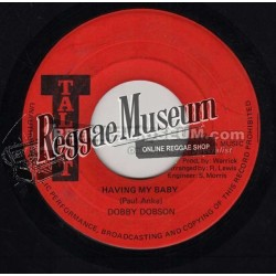 Dobby Dobson - Having My Baby - Talent 7""