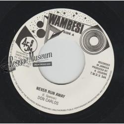 "Don Carlos - Never Run Away - Wambesi 7"""