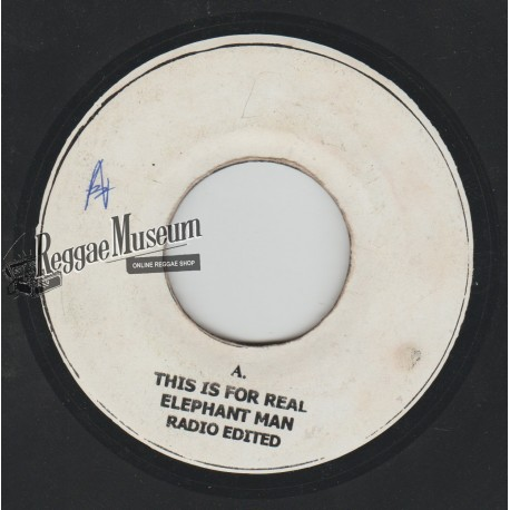 """Elephant Man - This Is For Real - blank 7"""""""