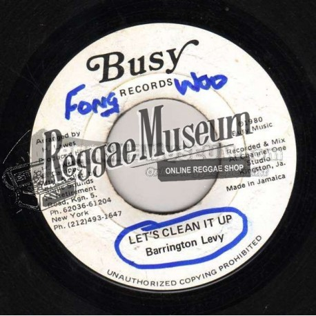 """Barrington Levy - Lets Clean It Up - Busy 7"""""""