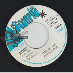 Frankie Paul - Come On Jah - Black Scorpio 7""