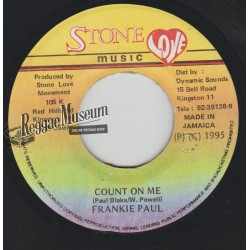 Frankie Paul - Count On Me - Stone Love 7""