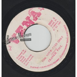 Frankie Paul - For Your Eyes Only - Vena 7""