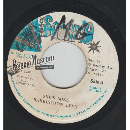 Barrington Levy - Shes Mine - Black Scorpio 7""