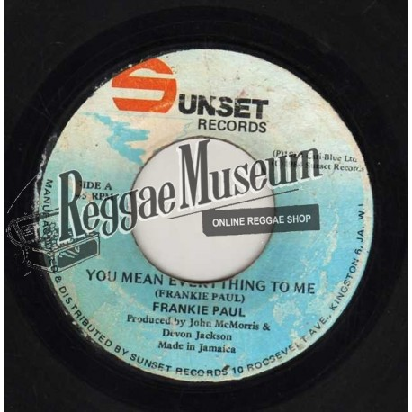 """Frankie Paul - You Mean Everything To Me - Sunset 7"""""""