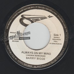 """Barry Biggs - Always On My Mind - Sonic Sounds 7"""""""