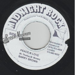 Barry Brown - Peace And Love - Midnight Rock 7""