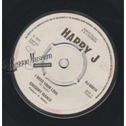 "Gregory Isaacs - I Need Your Love - Harry J 7"""