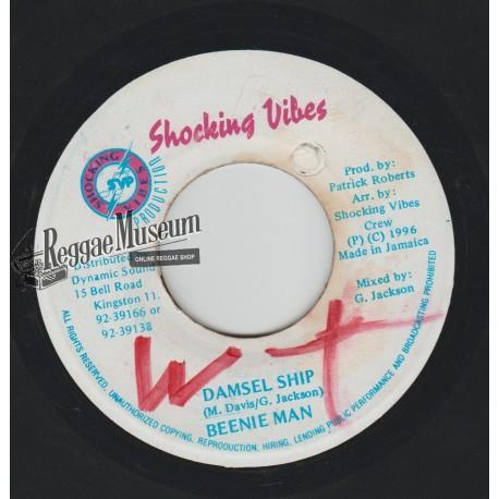 "Beenie Man - Damsel Ship - Shocking Vibes 7"""