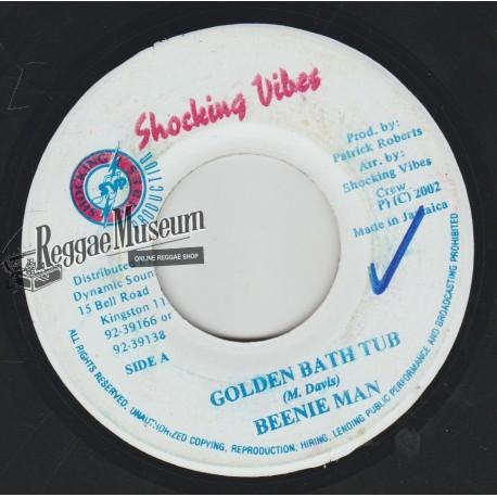 """Beenie Man - Golden Bath Tub - Shocking Vibes 7"""""""