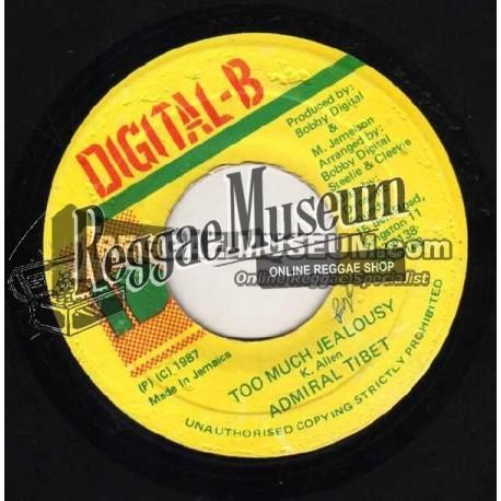 "Admiral Tibet - Too Much Jealousy - Digital B 7"""