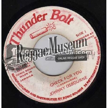"""Johnny Osbourne - Check For You - Thunder Bolt 7"""""""