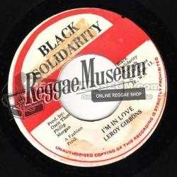 "Leroy Gibbons - Im In Love - Black Solidarity 7"""