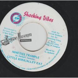 """Little Kirk & Alley Cat - Nineties Trample - Shocking Vibes 7"""""""
