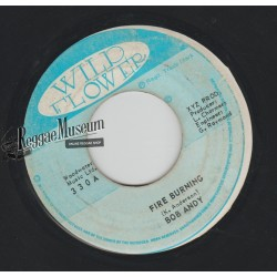 Bob Andy - Fire Burning - Wild Flower 7""