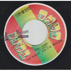 """Bob Marley & Wailers - Bad Card - Tuff Gong 7"""""""