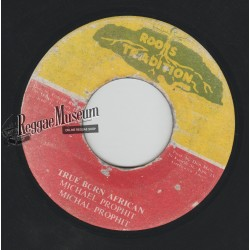 "Michael Prophet - True Born African - Roots Tradition 7"""