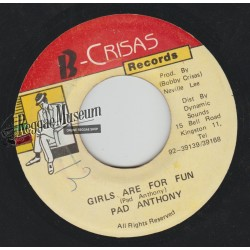 Pad Anthony - Girls Are For Fun - B Crisas 7""