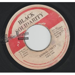 Papa San - Animal Party - Black Solidarity 7""