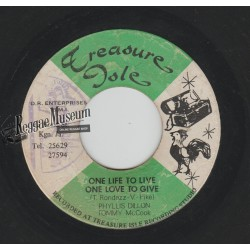Phillys Dillon - One Life To Live - Treasure Isle 7""