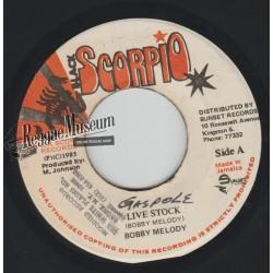 "Bobby Melody - Live Stock - Black Scorpio 7"""