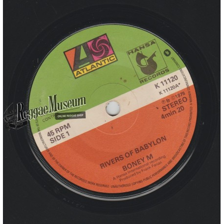 Boney M - Rivers Of Babylon - Atlantic 7""