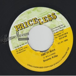 Bounty Killer - Ask Fi War - Priceless 7""