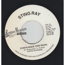 """Richie Stephens - Comin Back For More - Sting Ray 7"""""""