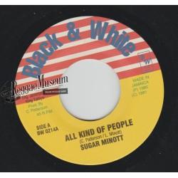 """Sugar Minott - All Kind Of People - Black & White 7"""""""