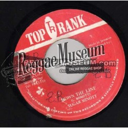 "Sugar Minott - Down The Line - Top Rank 7"""