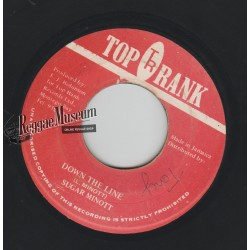 Sugar Minott - Down The Line - Top Rank 7""