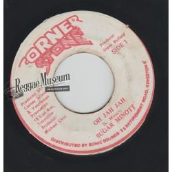 "Sugar Minott - Oh Jah Jah - Corner Stone 7"""