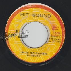 "U Brown - Bits Of Paper - Hit Sound 7"""
