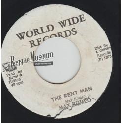 "Max Romeo - The Rent Man - World Wide 7"""