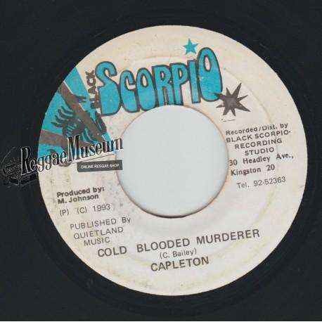"Capleton - Cold Blooded Murderer - Black Scorpio 7"""