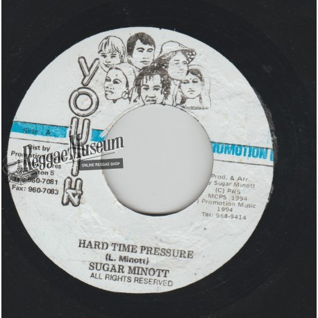 Sugar Minott - Hard Time Pressure - Youth Promotion 7""