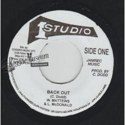 """Wailing Souls - Back Out - Studio 1 7"""""""