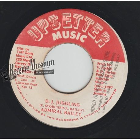"Admiral Bailey - DJ Juggling - Upsetter Music 7"""